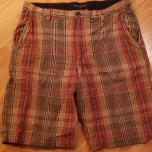 Plaid banana republic shorts